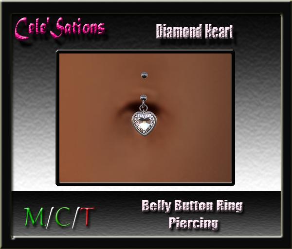 [CS] Belly Button Ring : Belly Piercing ~ Diamond Heart