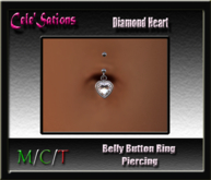 [CS] Belly Button Ring ~ Diamond Heart (ADD ME)