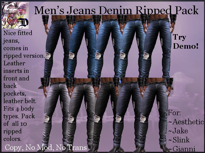 Men's Jeans Ripped Pack (ADD ME)