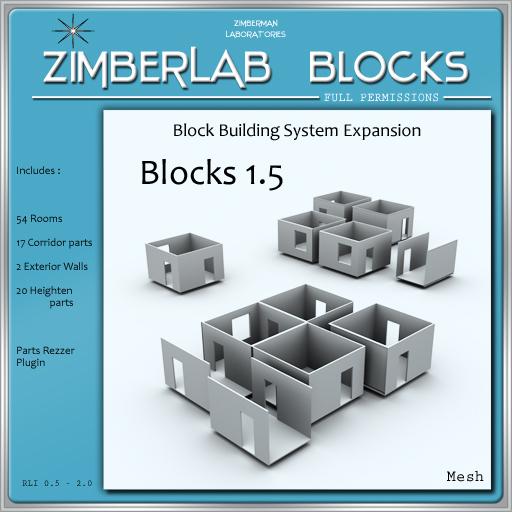House Building System Expansion full perm - ZimberLab Blocks 1.5