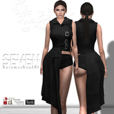SEVEN - KAIA mesh OUTFIT (black)