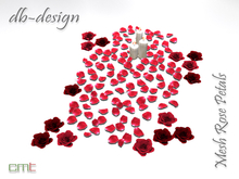::db:: Mesh Rose Petals Red with Flower Heads and Candles