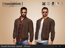 Suede Bomber Jacket - Brown - Signature, Legacy, Belleza, SLink, Classic Avatar