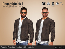 Suede Bomber Jacket - Chocolate - Signature, Legacy, Belleza, SLink, Classic Avatar