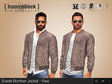 Suede Bomber Jacket - Raw - Signature, Legacy, Belleza, SLink, Classic Avatar