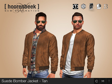Suede Bomber Jacket - Tan - Signature, Legacy, Belleza, SLink, Classic Avatar