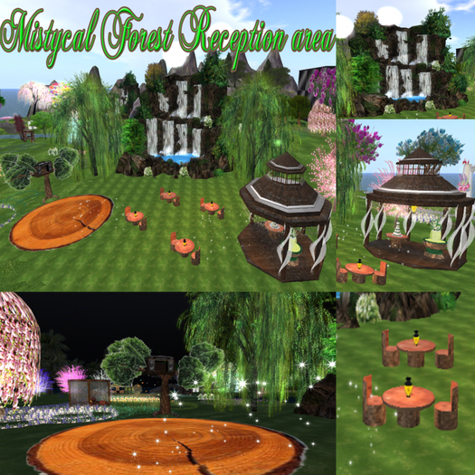 -70% MYSTICAL FOREST WEDDING RECEPTION with animations poses and decorations