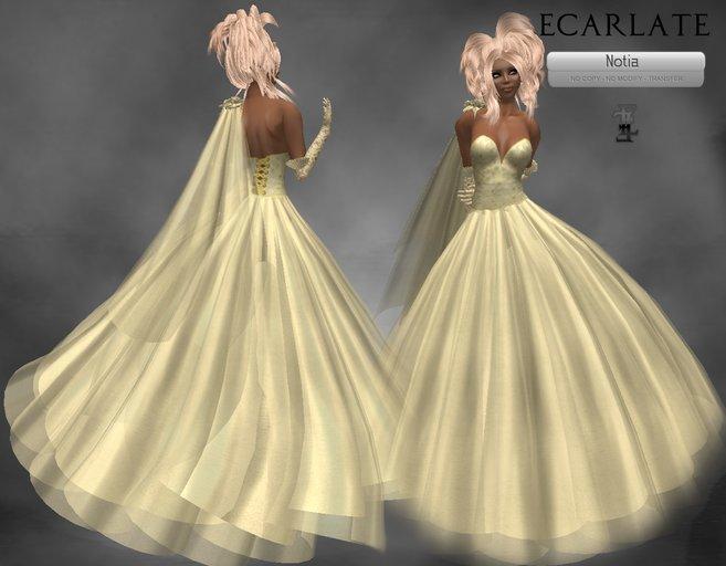 Soldé/Sale Price * Ecarlate - Couture, Yellow Dress wedding Gown formal/ Robe de soirée formelle Jaune - Notia