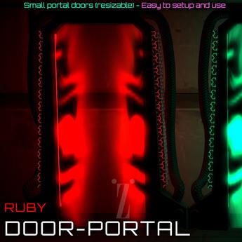 [inZoxi] - Experience Portal Door 1 Land Impact - Ruby