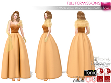 %50SUMMERSALE Full Perm 1950s Retro Princess Dress With Shawl Maitreya Slink Belleza Tonic Ocacin Body Avatars