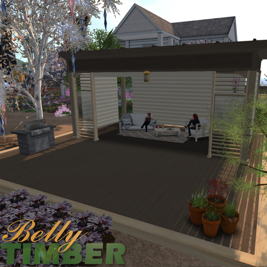 Second Life Marketplace Hagestue Norway Garden Lounge Style 02