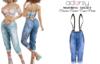 adorsy - Dacota Denim Pants Cornflower - Maitreya/Legacy
