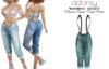 adorsy - Dacota Denim Pants Petrol - Maitreya/Legacy