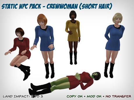 Static Star Trek NPC - Female Short Hair