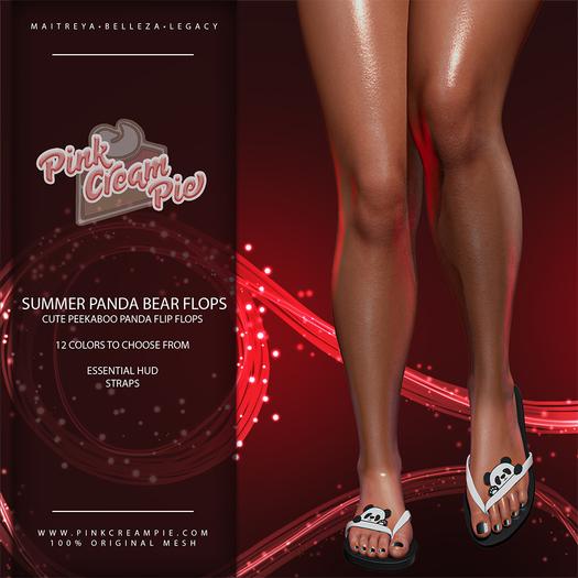!PCP :: Summer Flip Flops [Panda Bear Pack]