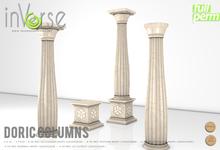 inVerse MESH - Doric Columns set Hi-resolution full permission