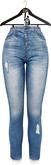 OSMIA - Laurie.High-Waisted Jeans - Light Blue