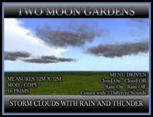 STORM CLOUDS WITH RAIN AND THUNDER* MENU DRIVEN