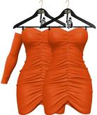 OSMIA - Teresa.Mini Dress - Orange