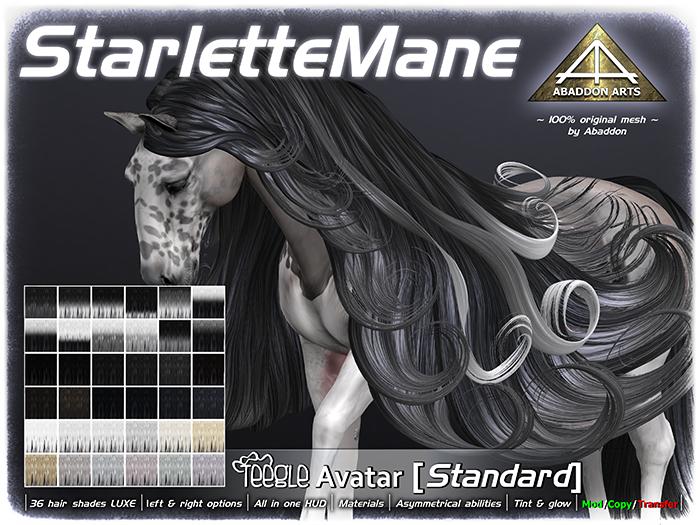 ABADDON ARTS - Starlette Mane LUXE [Teegle Avatar]