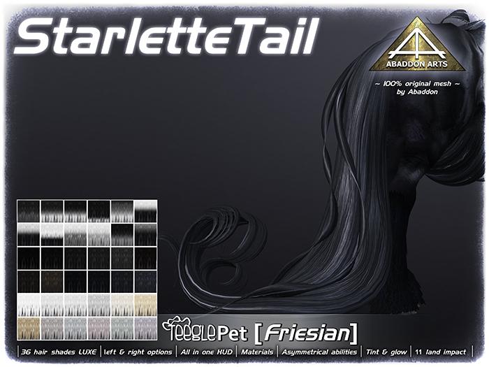ABADDON ARTS - Starlette Tail LUXE [Teeglepet Friesian]
