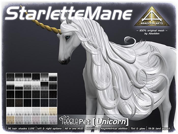 ABADDON ARTS - Starlette Mane LUXE [Teeglepet Unicorn]