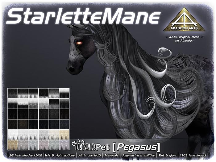 ABADDON ARTS - Starlette Mane LUXE [Teeglepet Pegasus]