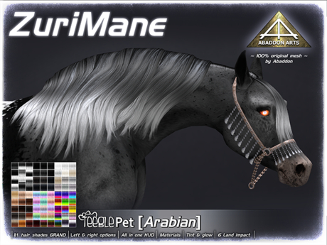 ABADDON ARTS - Zuri Mane GRAND [Teeglepet Arabian]