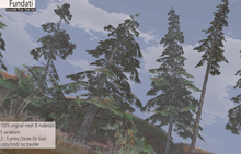 (Fundati) Curved Pine Tree Set