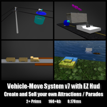Vehicle Move System V7 *0.170ms* low lag smooth non-physics sell your own rides parades