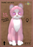 KittyCatS Box - Chateau Cat - Pink & White No. 1 - Gerbera Pink