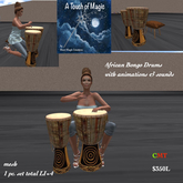 African Bongo Drums with animations & sounds-Box