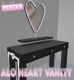 Black Alo Heart Vanity