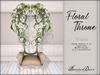 Boudoir-Floral Throne White