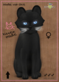 KittyCatS Box - Russian - Black - FLUFFY HEAD - Azure