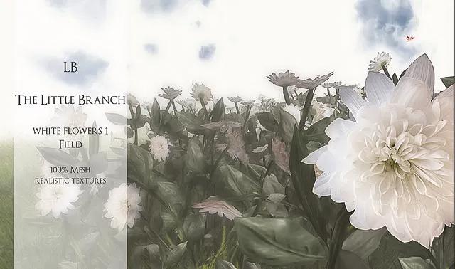 LB White Flowers Field Pack