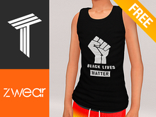 ZWEAR Tweenster Tanktops - BLM Black Fist Undershirt