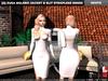 [S] Zusa Bolero Jacket & Slit Strapless Dress White