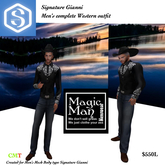 Signiture Gianni Mens Complete Western Outfit-Box