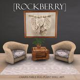 [ROCKBERRY] Wicker Set