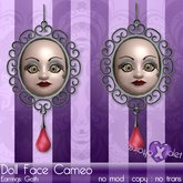 {Violet Voltaire} Doll Face Cameo Earrings Goth (boxed)