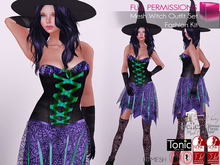 %50SUMMERSALE Full Perm Witch Outfit For Maitreya Slink Belleza Tonic Ocacin Body Avatars
