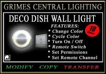 WALL LIGHT (Dish Style with Switch)