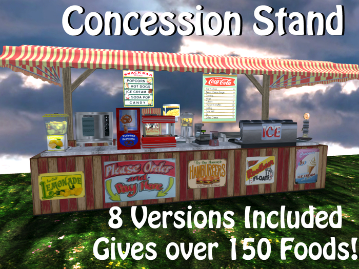Concession Stand: 150 foods + ALL 8 STYLES