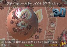 JU Old Design Fabric 004 3D Texture Full Perm