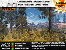 """1/4 Sim landscape """"Adventure"""" (Island for 128x128 land size or sky platform)"""