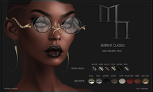 Serpent Glasses by Madame Noir
