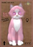 KittyCatS Box - Chateau Cat - Pink & White No. 1 - FLOOFY HEAD - Gerbera Pink