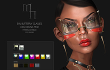 Evil Butterfly Glasses by Madame Noir