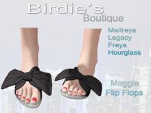 Birdie's Boutique - Maggie Flip Flops - Black